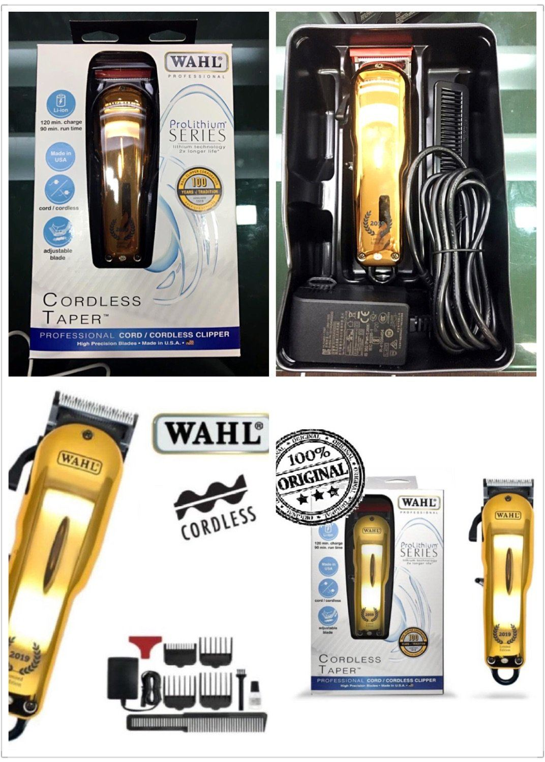 WAHL Prolithium Series Pro Super Taper Cordless (2019 Gold Limited Edition 100 Years)