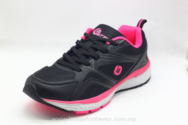 Running Shoe for Women -TF-195207-01-BLACK/PINK Colour