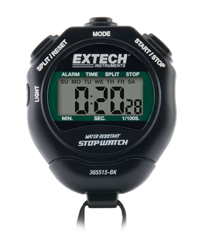 Extech 365515-BK Stopwatch/Clock with Backlit Display