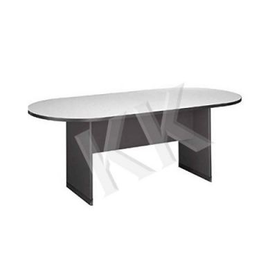 Light Grey & Dark Grey Oval Conference Table 1800W