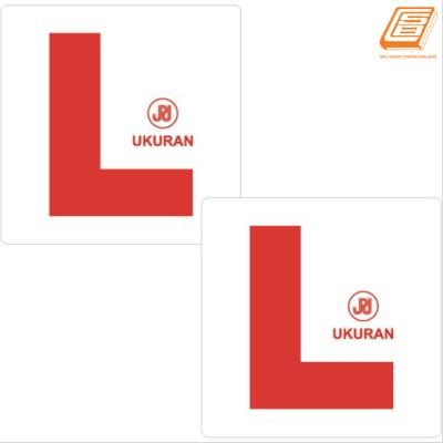 L Sticker (9.5cm x 9cm )