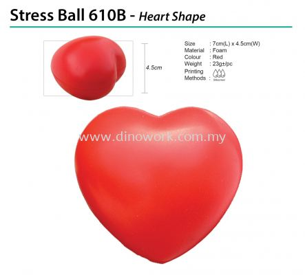 Stress Ball 610B - Heart Shape
