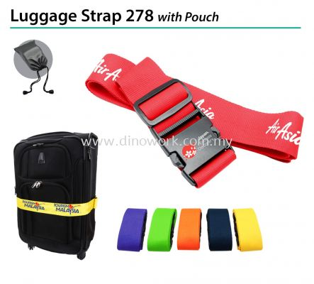 Luggage Strap 278 with Pouch