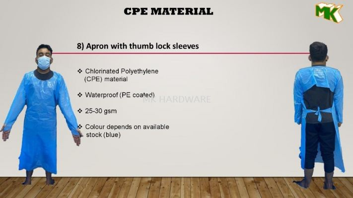 APRON WITH THUMB LOCK SLEEVES
