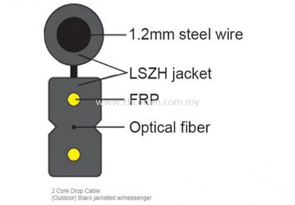 2 Core Outdoor FTTH  Messenger