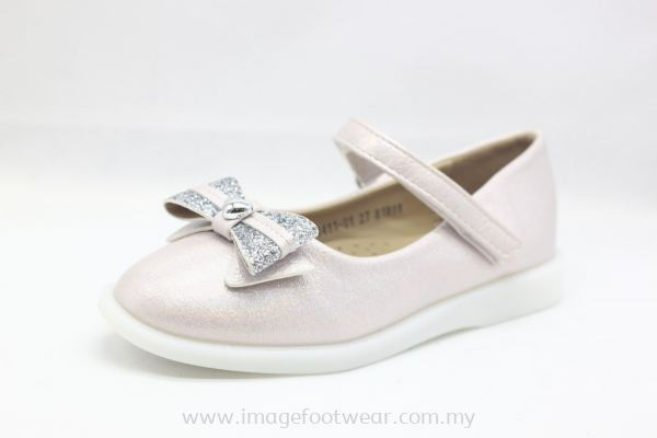 Girl Flat Shoes with Ribbon Bow KD-13-1411 PINK Colour