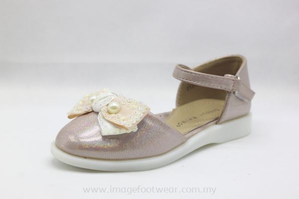 Girl Flat Shoes with Ribbon Bow KD-13-1412 PINK Colour