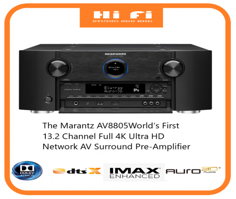 MARANTZ AV8805 13.2 Channel Full 4K Ultra HD Network AV Surround Pre-Amplifier with HEOS. Control Your Music with Amazon Alexa Voice Commands