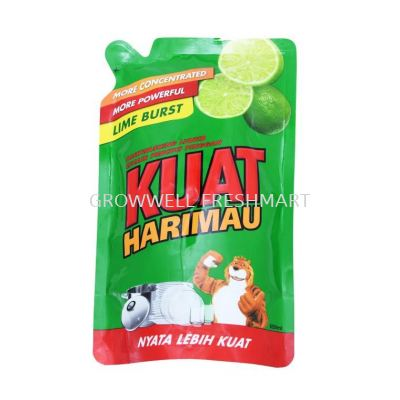 Kuat Harimau Dishwash Liquid Lime Refill 650ml