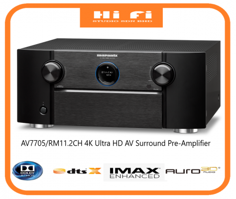 AV7705/RM11.2CH 4K Ultra HD AV Surround Pre-Amplifier with IMAX Enhanced, Dolby Atmos, Auro-3D, HEOS, AirPlay