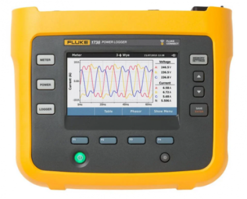 Fluke 1736 and 1738 Three-Phase Power Quality Loggers