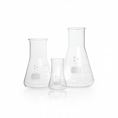Duran Erlenmeyer Flasks, Wide Neck with graduation