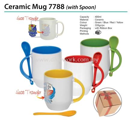 Ceramic Mug 7788 with spoon