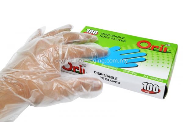 Plastic HDPE Glove (Free Size)