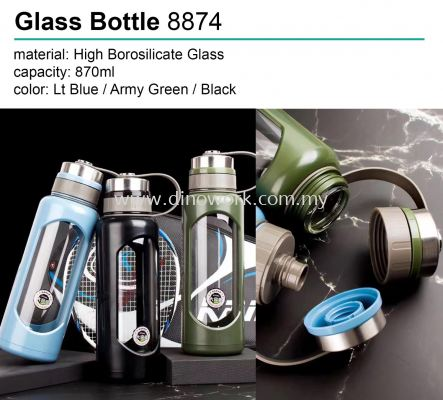 Glass Bottle with Pouch 8874