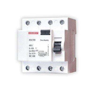 4 POLE 100A RCCB CIRCUIT BREAKER