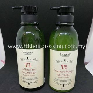 Fontane T1 Shampoo 1000ml + T5 Treatment Masque 1000ml (Promotion Set)