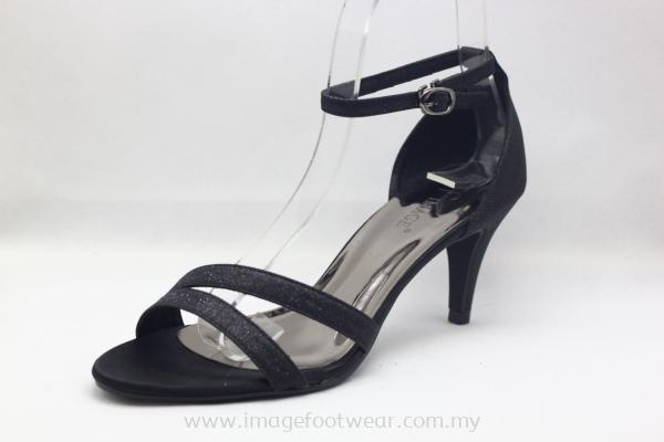 Elegant Lady Fashion Sandal with 2.5 Inch Heel - TF-1807- BLACK Colour