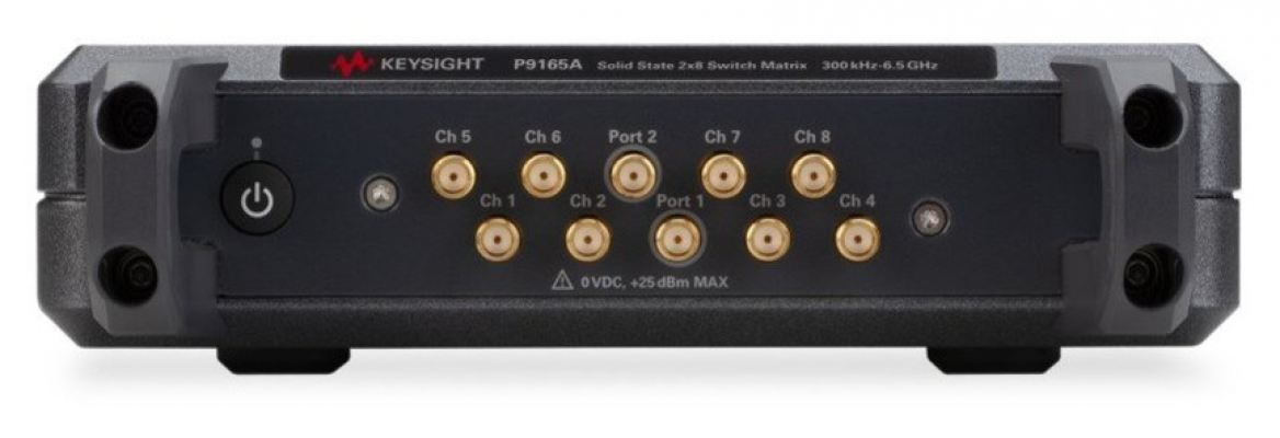P9165A 2X8 USB solid state switch matrix, 300 KHz to 6.5 GHz