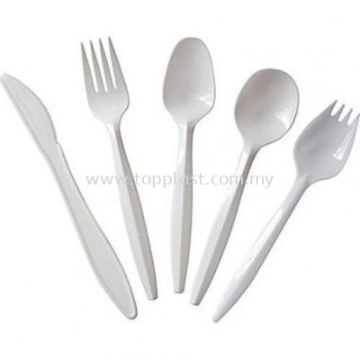 Disposable Fork Spoon Knife (Single)