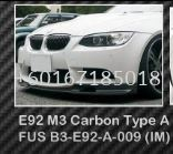 bmw e92 coupe front lip a style for e93 m3 bumper add on upgrade performance look frp material new set