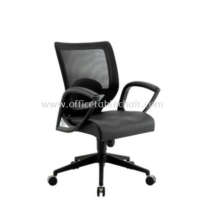 KASANO LOW BACK MESH CHAIR WITH FIXED ARMREST ACL 5077 (A)