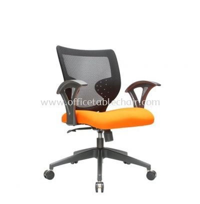 KASANO 2 LOW BACK MESH CHAIR WITH POLYPROPYLENE ARMREST COMBINATION SIDE CHROME ACL 511 (B)