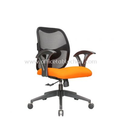 KASANO 2 LOW BACK MESH CHAIR WITH POLYPROPYLENE ARMREST WITH COMBINATION SIDE CHROME ACL 522 (B)