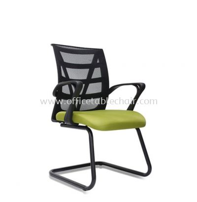 KASANO 3 VISITOR MESH CHAIR WITH EPOXY BLACK CANTILEVER BASE ACL 527