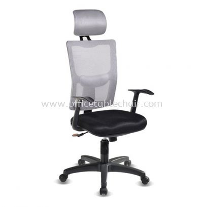 MELBY HIGH BACK MESH CHAIR WITH PP BASE & BACK SUPPORT AMB-P1