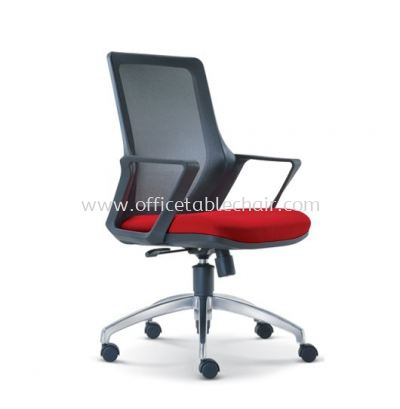 REAL LOW BACK MESH CHAIR WITH ALUMINIUM ROCKET DIE-CAST BASE ASE 2691
