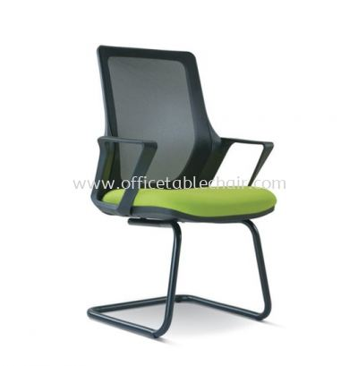 REAL VISITOR MESH CHAIR WITH EPOXY BLACK CANTILEVER BASE BASE ASE 2696