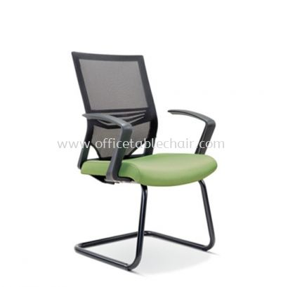 RELEASE VISITOR MESH CHAIR WITH EPOXY BLACK CANTILEVER BASE ASE 2617