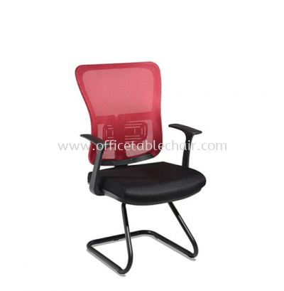 SKOGEN VISITOR MESH CHAIR WITH EPOXY BLACK CANTILEVER BASE SG-P3