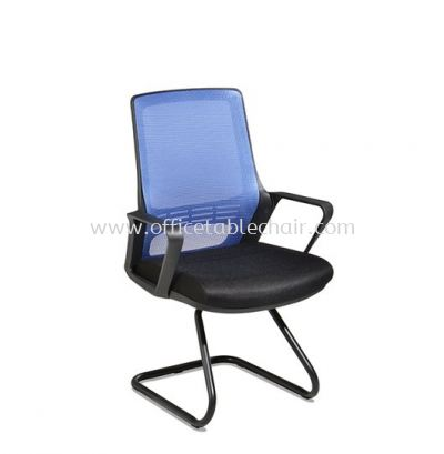 STRANMAN VISITOR MESH CHAIR WITH EPOXY BLACK CANTILEVER BASE SM-C3
