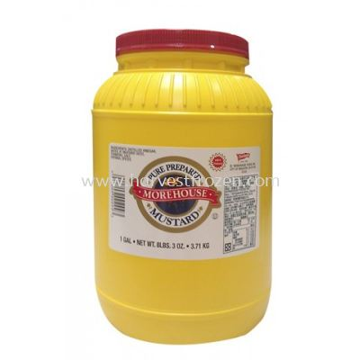 MOREHOUSE YELLOW MUSTARD 1GALLON 3.71KG
