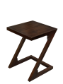 Z Shape Side Table (Dark Walnut Color)