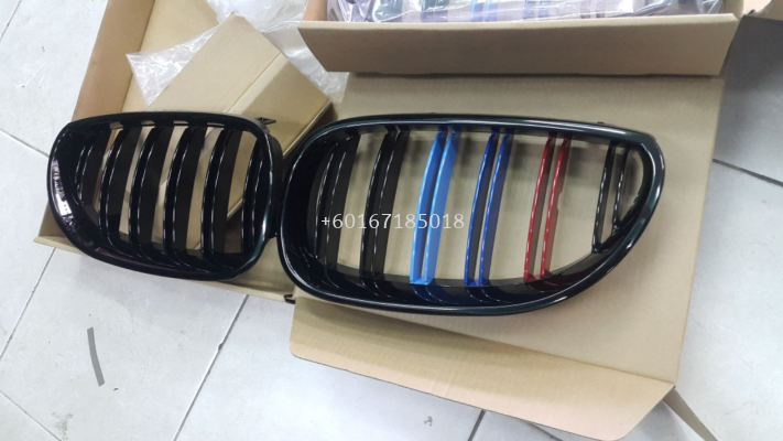 bmw e60 tri color gloss black grille m5 style for e60 replace upgrade performance look abs material new set