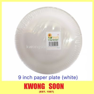 6 7 8 9 Inch Paper Plate White