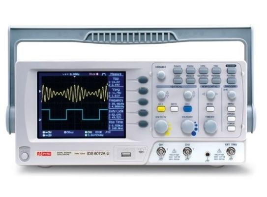 124-0229 - RS PRO IDS6072AU Oscilloscope, Digital Storage, 2 Channels, 70MHz