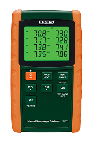 Extech TM500 12-Channel Datalogging Thermometer