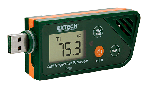 Extech TH30 USB Dual Temperature Datalogger