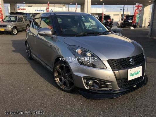 2012 2013 2014 2015 2016 suzuki swift sport zc32 greddy style front lip for sport bumper add on performance look gloss black matt black material new set