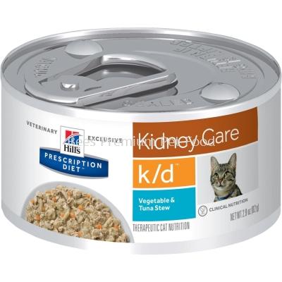 Hill's Prescription Diet k/d Feline CAN Food (Vegetable & Tuna Stew) 82g