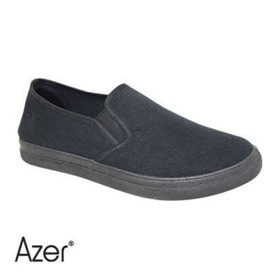 AZER - MEN'S CANVAS SHOE (C 550-ABK) ALL BLACK