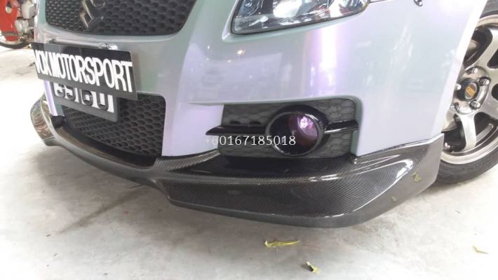 suzuki swift sport zc31s front lip greddy style for sport front bumper add on upgrade performance look real carbon fiber material new set