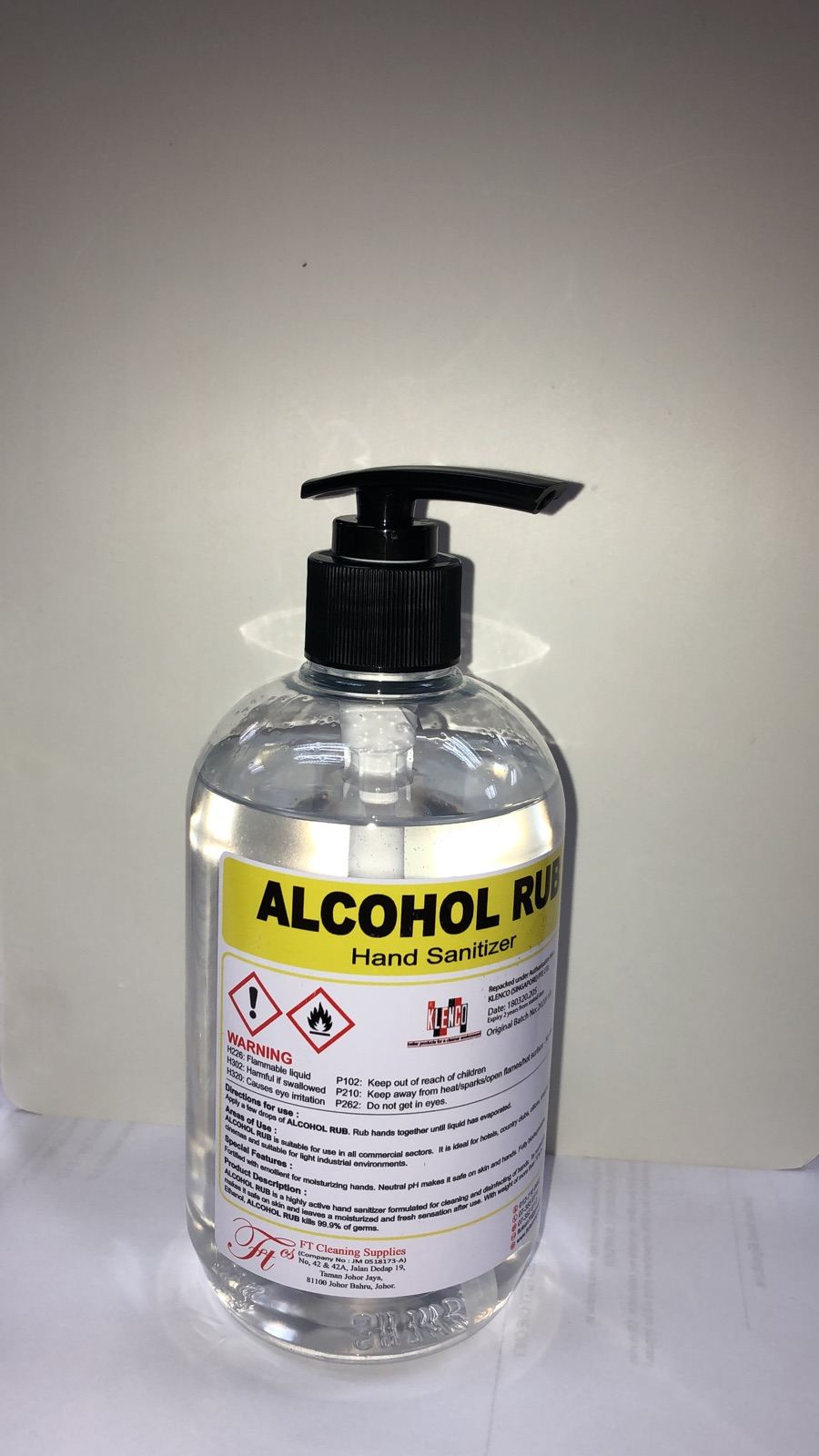 Alcohol Hand Sanitizer 500ml