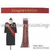 Congratulation Glitter Sash - Red (P-AC-SACGG-R)