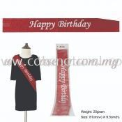 Happy Birthday Glitter Sash - Red (P-AC-SAHBG-R)