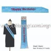 Happy Birthday Sash - Baby Blue (P-AC-HBBB)